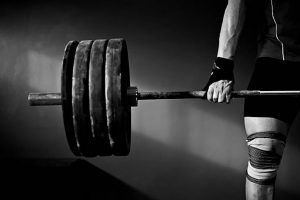 Large weights in front of light weights