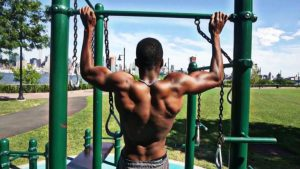 Pull-ups on the bar