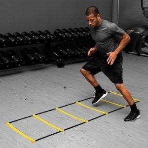 Exercises on the floor ladder